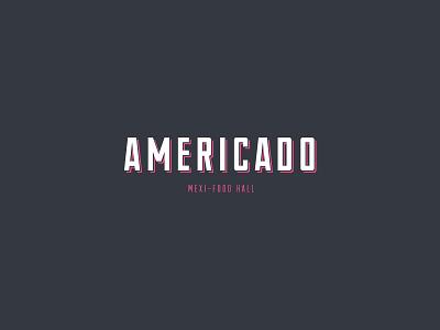 Americado fortworth mexican food art interiordesign restaurant design logo branding