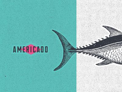 Americado illustration fortworth mexican food art interiordesign restaurant design logo branding