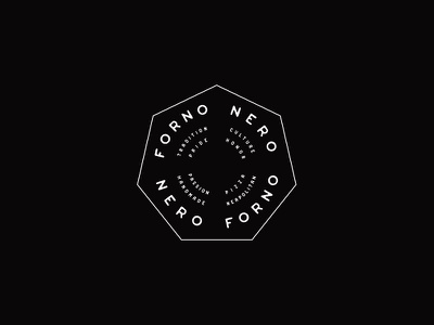 Forno Nero pizza dallas food art interiordesign restaurant design texture icon logo branding