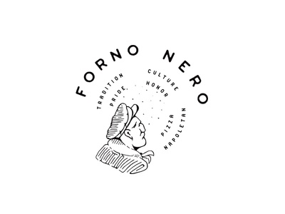 Forno Nero pizza dallas illustration food art interiordesign restaurant design texture logo branding