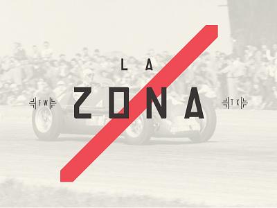 La Zona wesanderson formulaone illustration food art cafe restaurant design logo branding