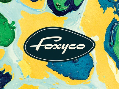 Foxy Co. design district foxy bar kitchen dallas illustration art design texture icon logo branding