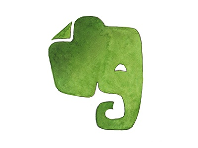 Watercolor Evernote logo