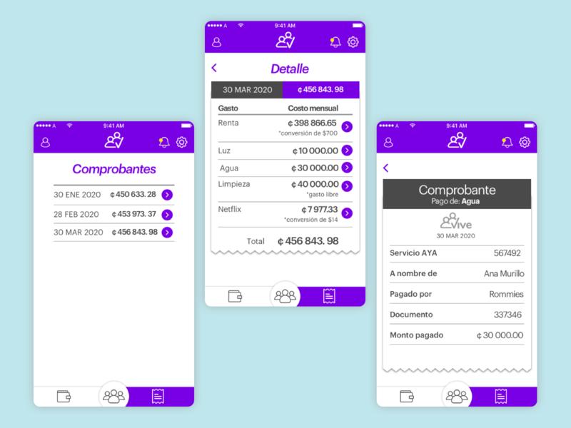 Vive APP bank app roommates money app bank app interface interaction ux ui design
