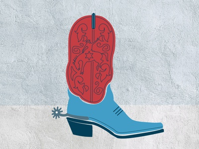 Cowboy Boot texture boot spur stock icons design western illustration icon cowboy boots
