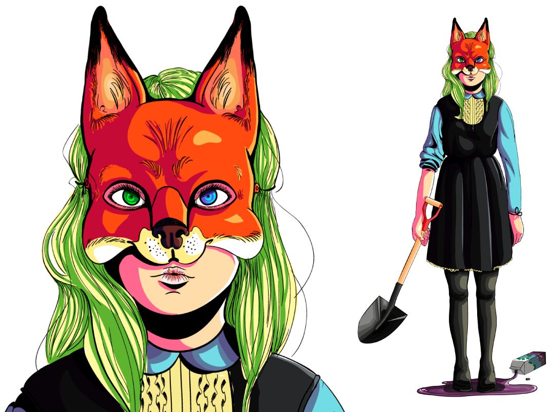 The Fox and the Grapes charachter grapes adobe illustrator fox vector ilustração illustration digital illustration
