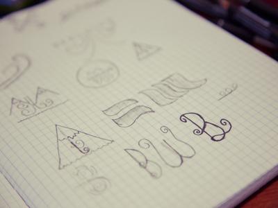 Bergwind Logo Sketches
