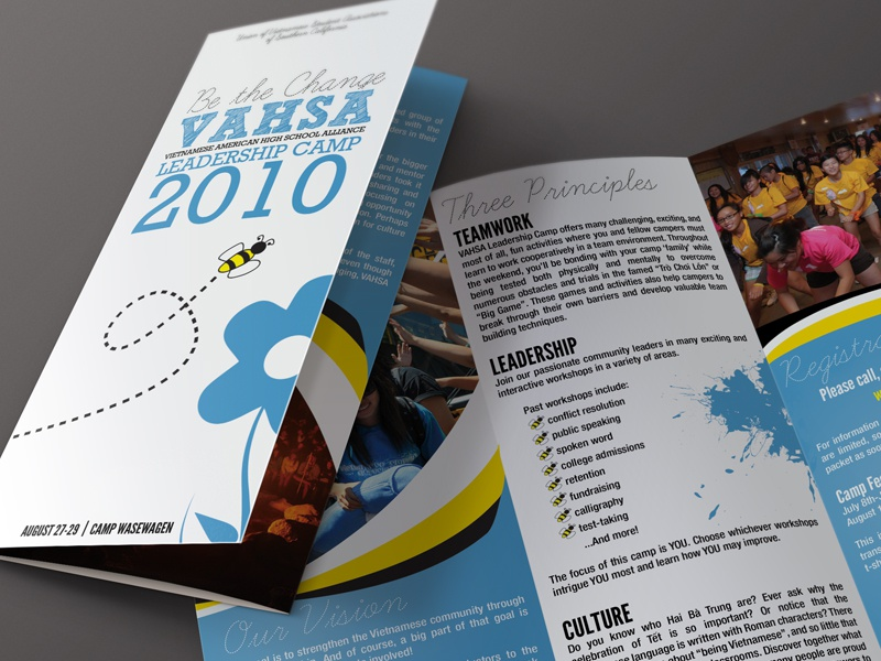 VAHSA Camp Brochure high school leadership camp brochure old 2010