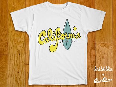 California Surf Co. threadless dribbble t-shirt california surf whynot