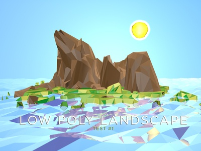 Low Poly Landscape - First Attempt