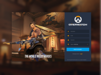 Daily UI Challenge #001 - Signup - Overwatch