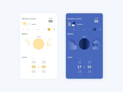 Daily UI Challenge 007 - Settings - Weather Control
