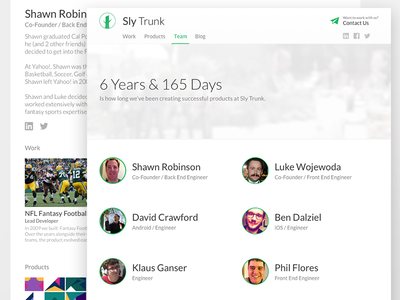 Sly Trunk: Team & Profile Views