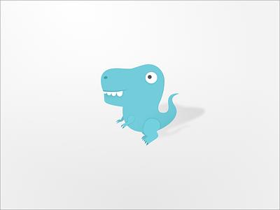 A Dinosaur Friend vector sketch character tyrannosaurus rex dinosaur brand logo