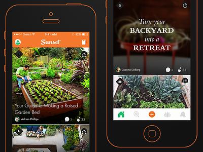 A Gardening App Idea (Home) garden app ux ui sketch apple iphone ios