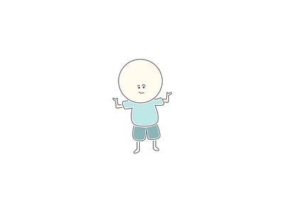 Design Guy - Big Shrug design guy person vector sketch character illustration