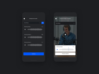 Motionden mobile video motion ui layout minimal typography mobile website