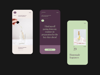 Home perfumes - Art direction mobile mobile app mobile editorial design editorial perfume typography design layout minimal web typography website cosmetics