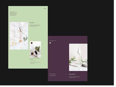 Home perfumes - Design direction screens. typogaphy editorial design editorial fashion cosmetics perfumes perfume layout minimal typography web website