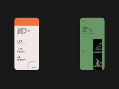 101 strategy for fighting diabetes — art direction / pt3 food vegetable veggies diabetes mobile animation simple type minimal clean layout typography website