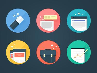 Socialpuzzle flat icons icon flat facebook applications clean simple set iconset minimal app circle ilustration