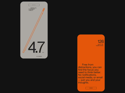 Rethinking notebook - design direction pt2 dark light tablet mobile simple ui clean minimal web website typography