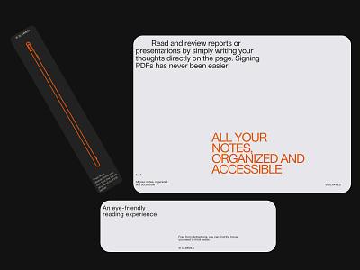 Rethinking notebook - design direction pt3 notebook design light ui type clean layout minimal typography web website