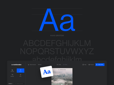 Motionden—Behance editor video dark behance dashboard mobile app ui minimal layout typography web website