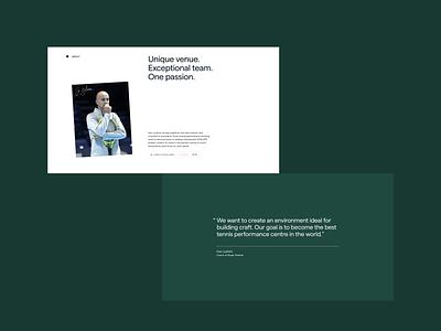 Awwwards (SOTD)—Ljubicic Tennis Academy awwwards design clean layout minimal typography web website