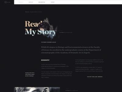 Ino Zeljak — typography experiment web website typography biography clean dark photography layout simple minimal ui landing page