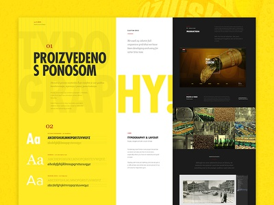 Ozujsko website redesign — case study web case-study typography minimal flat landing-page page ui layout website