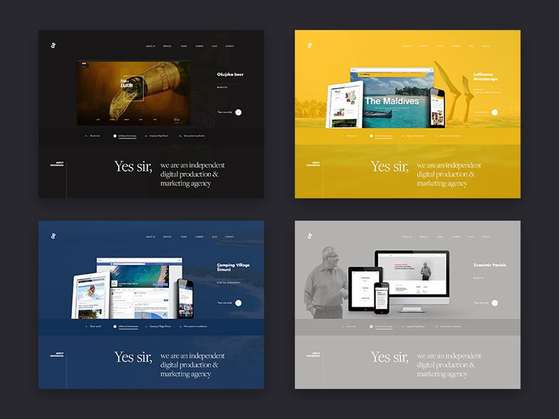 Website Design Inspiration - Magazine cover