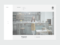Website layout — Home page