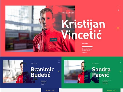 Rio 2016 Paralympic Games — Athlete page landing web typography minimal simple rio flat website
