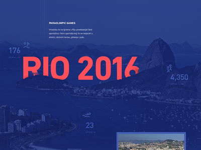 Behance project — Rio 2016 Paralympic Games landing web typography minimal simple rio flat behance website