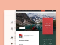 Canada Guide Book—Landing Page
