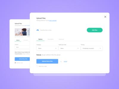 Upload Files Popup / UI Challenge — Week 01