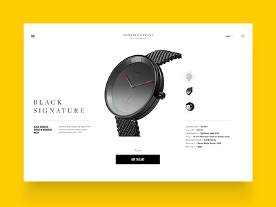 domenico product page variations