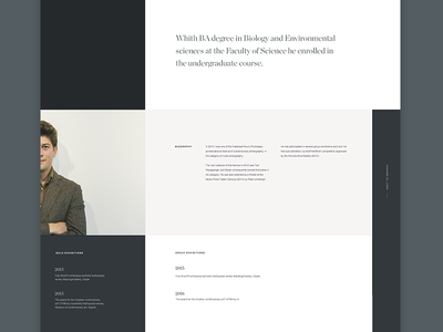 biography layout