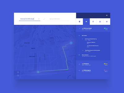 Directions Module / UI Challenge — Week 02 flat minimal clean application app website web component module popup directions