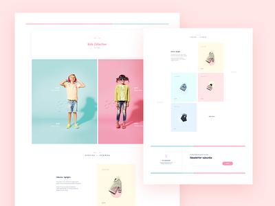 Comic Sans Challenge / UI Challenge — Week 08 flat clean minimal fashion webshop kids comic website web landing