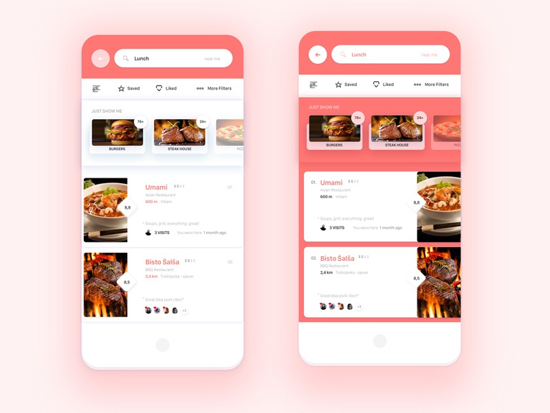 Restaurant list ui challenge — week by mario Šestak