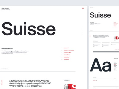 Suisse Type Specimen / UI Challenge — Week 12 website web clean simple minimal layout specimen suisse typography type