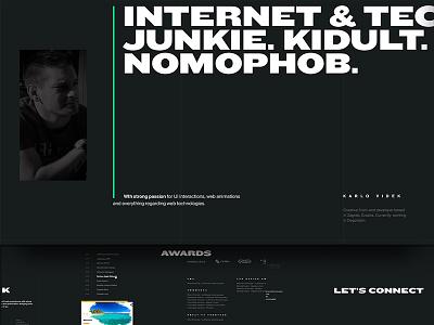 May 1st Reboot — Karlo Videk typography black simple frontend portfolio personal website web minimal ui landing may1reboot