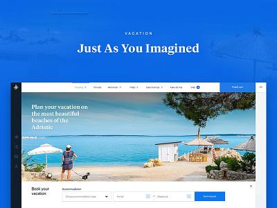 Camping Village Šimuni Website camping croatia sea layout web ui summer vacation website