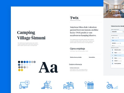 Styleguide Šimuni Website Part 1 camping croatia sea layout web ui guide style styleguide website