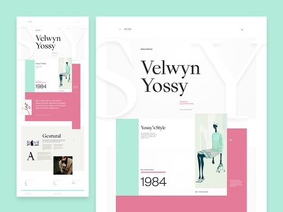Sang Bleu King Type Experiment artist website web illustration art clean minimal layout typography