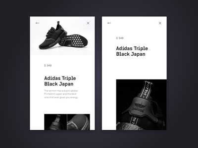 Mobile WebShop—Sneakers dark light ui webshop web clean type sneakers mobile typography