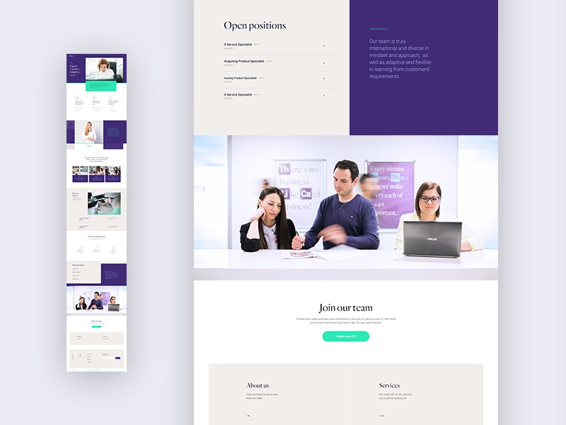 Mercury website—Careers page croatia banking mobile app type ux clean ui website web