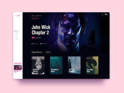 Tv On Demand—UI Weekly Challenges-Season 02 / Week [1/10] on demand film clean typography website web tv cinema movie